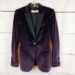 Burberry   Velvet Tuxedo Jacket, Size 4
